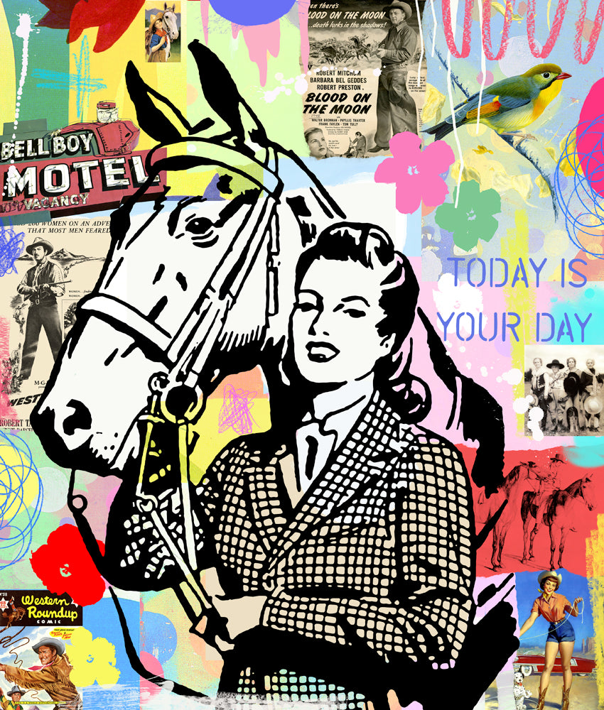 Horses Equestrian Dream Horse Riding Nelson De La Nuez Pop Art Painting