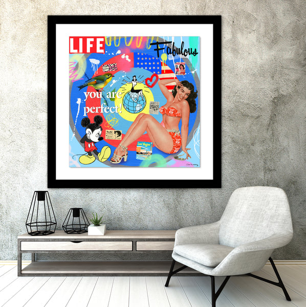 Fabulous Life Mixed Media- FRAMED, Signed