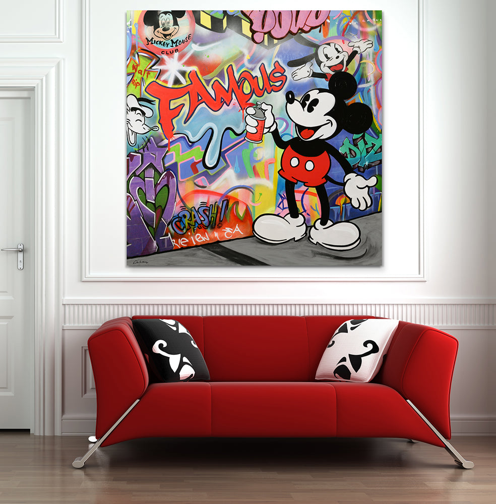 nelson de la nuez king of pop art mickey graffiti street art famous