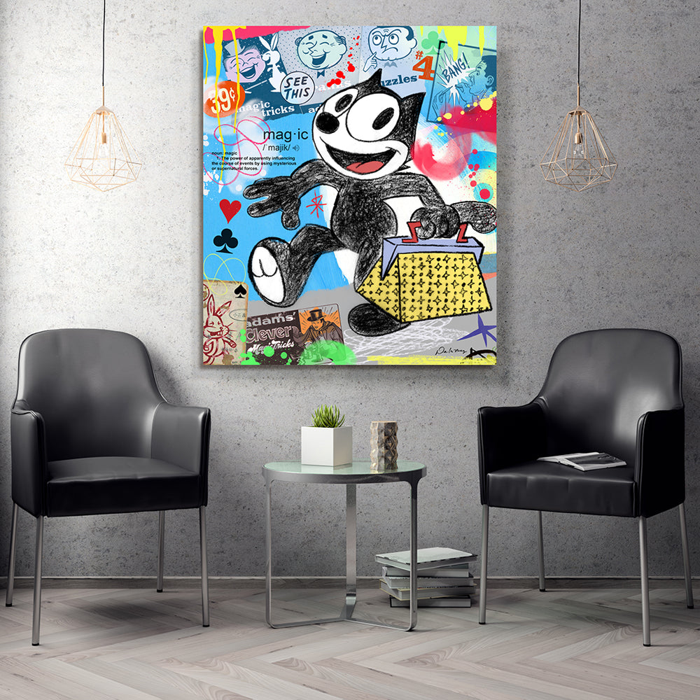 felix the cat cartoon magic nelson de la nuez king of pop art