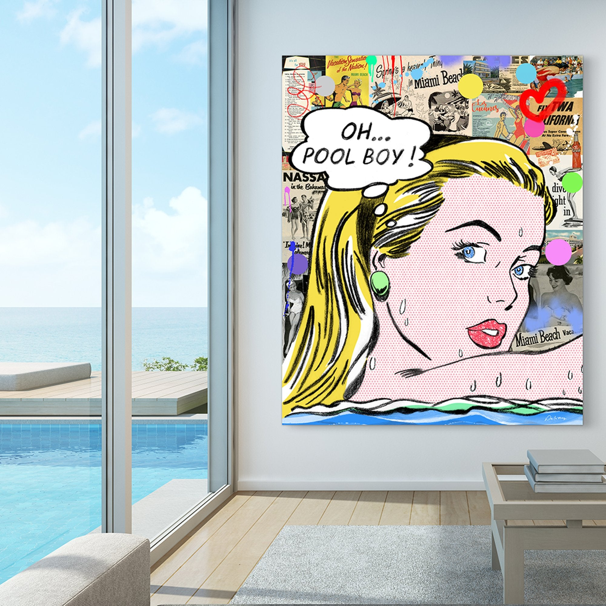 nelson de la nuez king of pop art pool boy high maintenance palm springs beach miami material girl