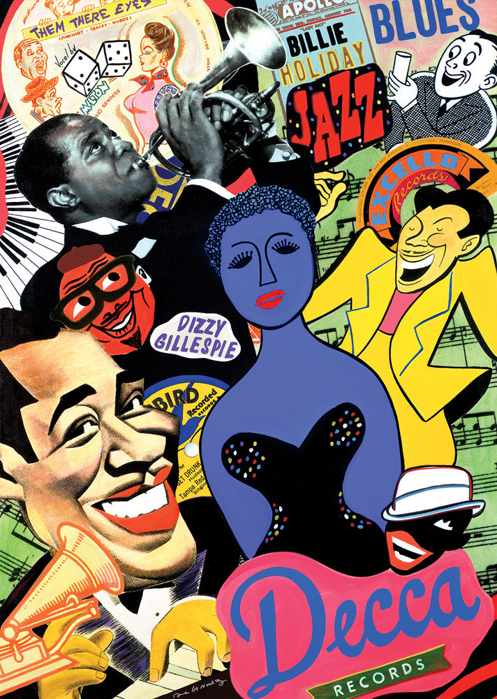 Jazz and blues music nelson de la nuez pop art