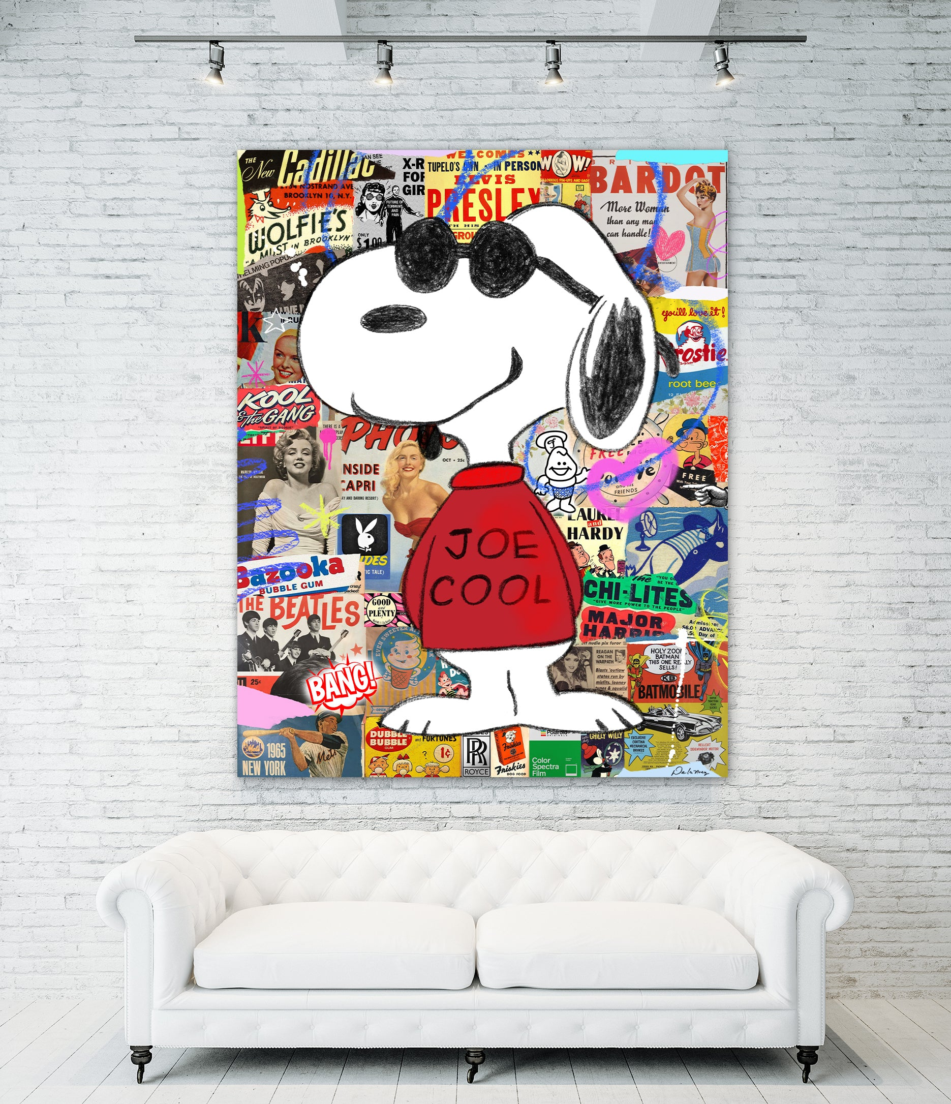 King of Pop Art Nelson De La Nuez the-King-of-Pop-Art Joe Cool Snoopy Pop Artist Celebrity World renown paintings original