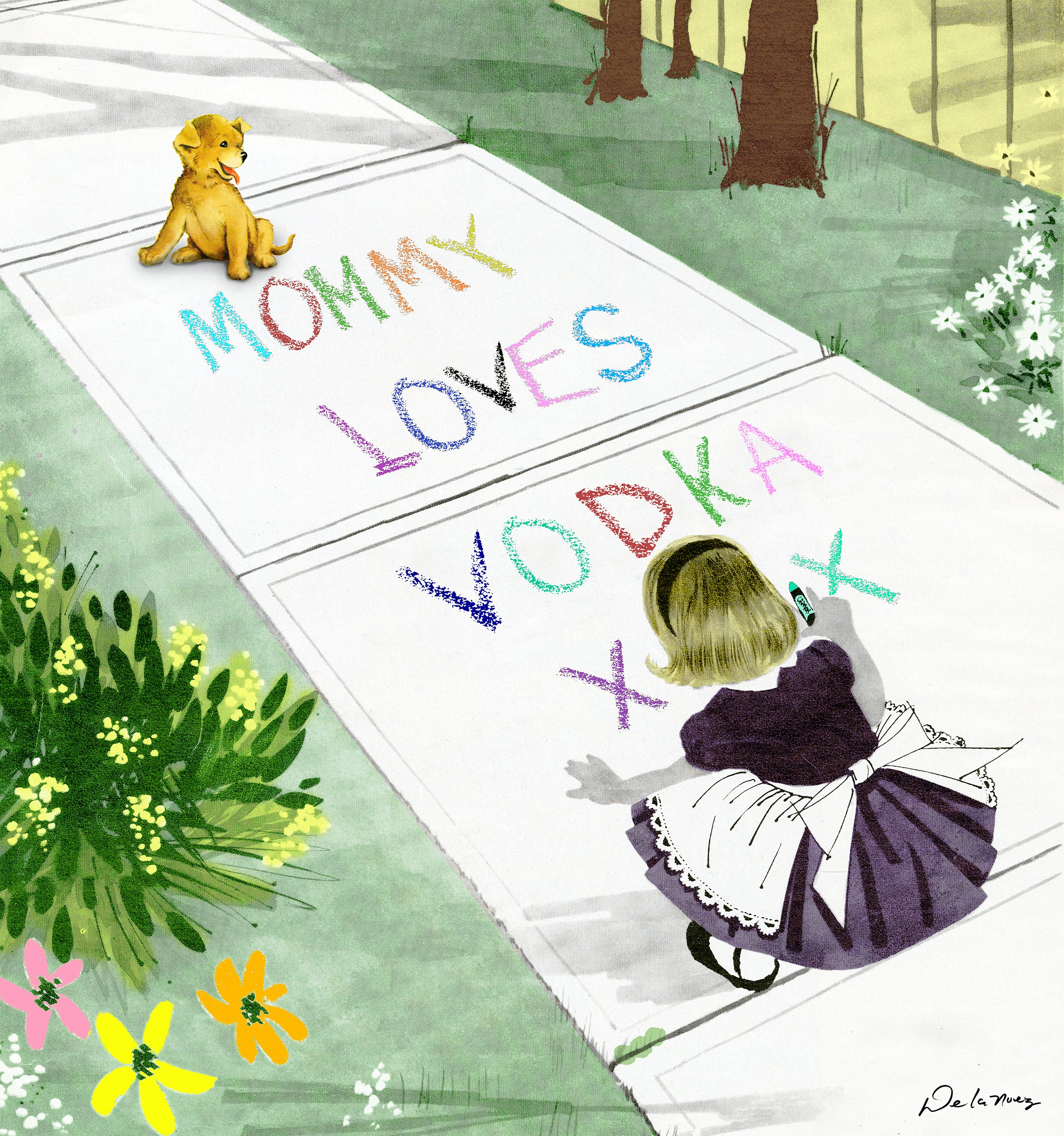 Mommy Loves Vodka Print