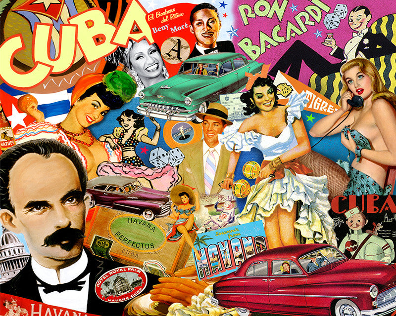 Old Havana Cuba Nelson De la Nuez Cuban American Artist The King of Pop Art