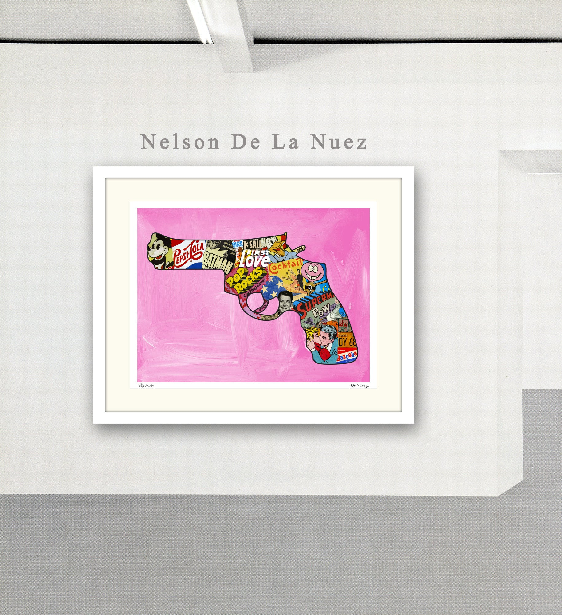 Pop Ammo pop gun pop culture pop artist Nelson De La Nuez King of Pop Art gun limited edition