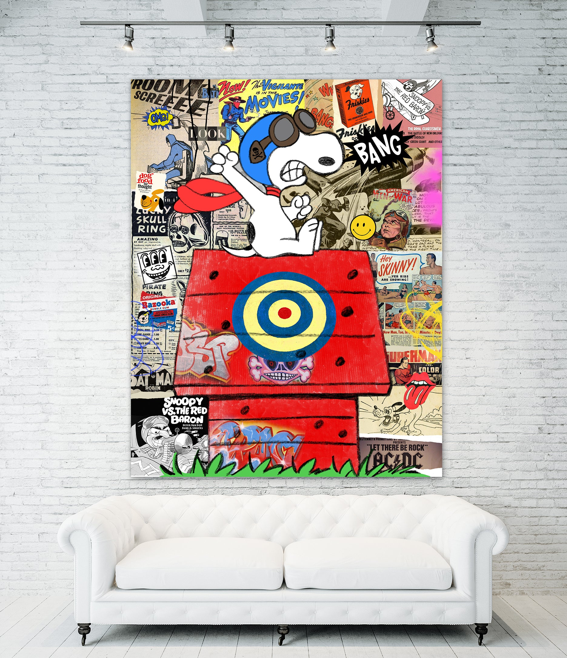 King of Pop Art Nelson De La Nuez Red Baron dog fight airplane peanuts snoopy