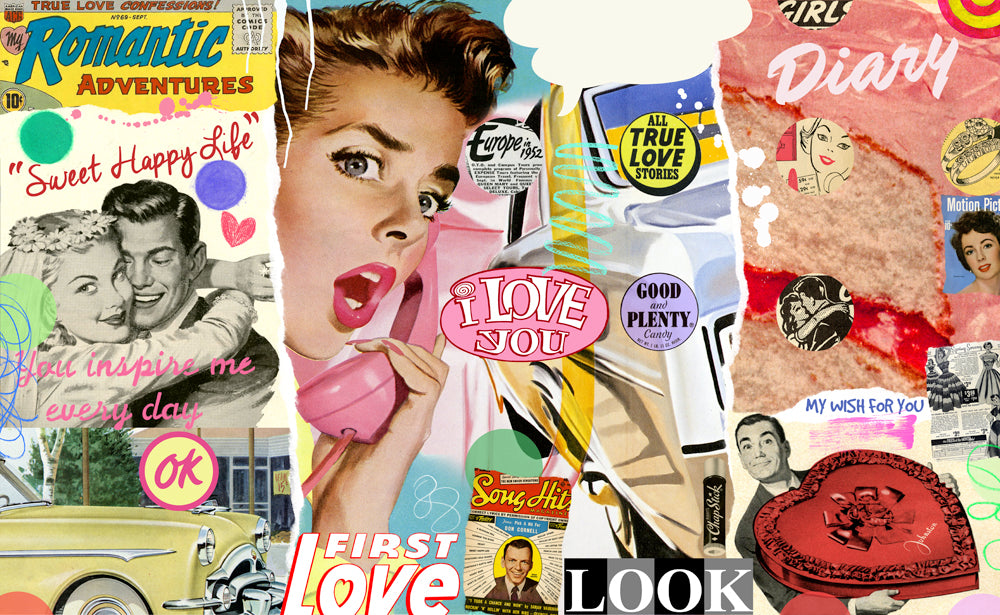 nelson de la nuez pop art sweet happy life 1950s romance interior design