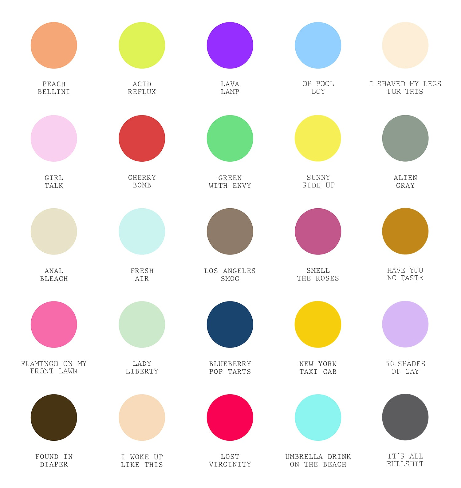 Real Life : Life's Little Palette Print