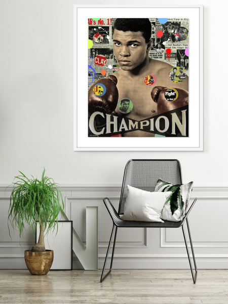 nelson de la nuez king of pop art muhammed ali boxer boxing sports