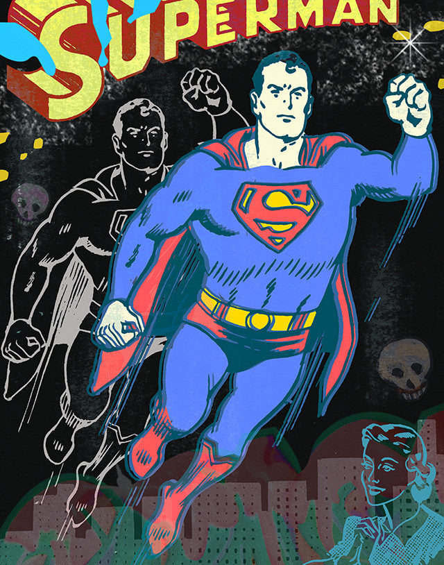 superman superhero comic book nelson de la nuez pop artist king of pop art