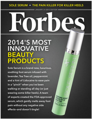 Sole Serum in the News for Soothing Sore Feet