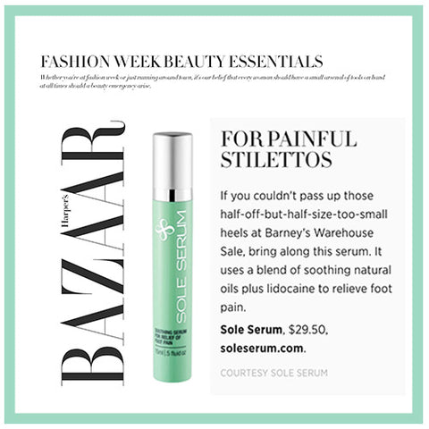 harpers bazaar sole serum