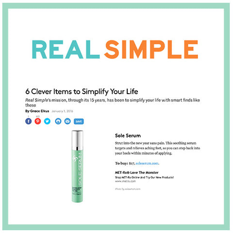 Real simple sole serum
