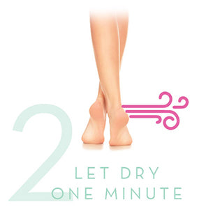 how-to let dry one minute