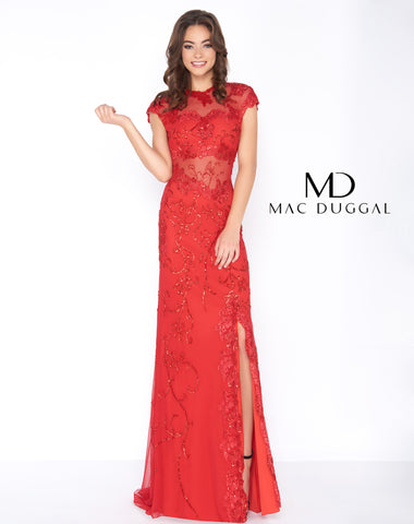 Mac Duggal 1903A Prom Dress Red