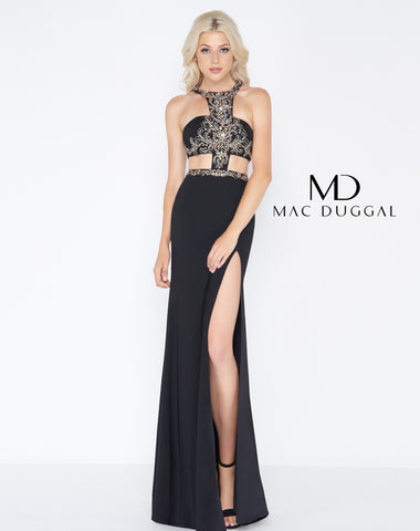 Mac Duggal 50415A Prom Dress Black/Gold