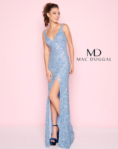 Mac Duggal 1068L Prom Dress Powder Blue