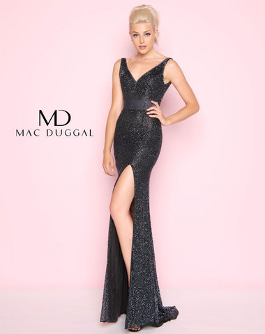 Mac Duggal 1070L Prom Dress Gunmetal