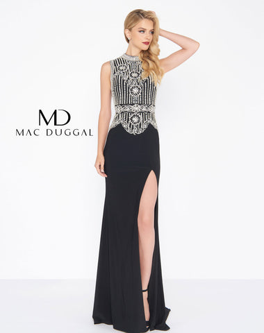 Mac Duggal 12026R Prom Dress Black