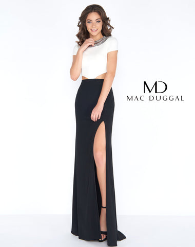 Mac Duggal 12033A Prom Dress Black/White
