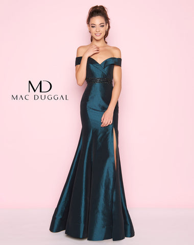 Mac Duggal 12036L Prom Dress Bottle Green