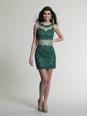 Dave & Johnny 144 Homecoming Dress Green