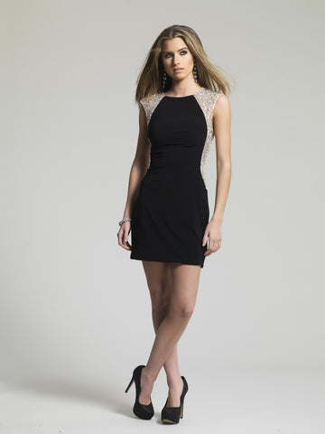 Homecoming Dress Dave & Johnny 1606 Black