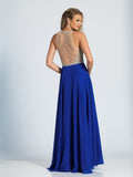 Dave & Johnny 1725 Prom Dress Sapphire
