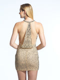 Homecoming Dress Dave & Johnny 1782 Nude Back