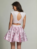 Dave & Johnny 1859 Homecoming Dress Pink Back