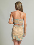 Homecoming Dress Dave & Johnny 1972 Nude Back