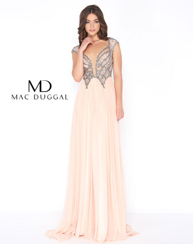 Mac Duggal 20053A Prom Dress Blush