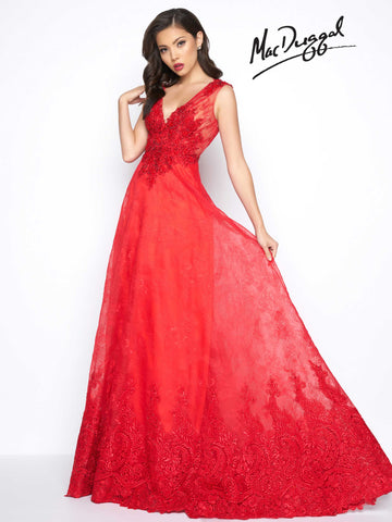 Prom Dress  Mac Duggal 20056R Red