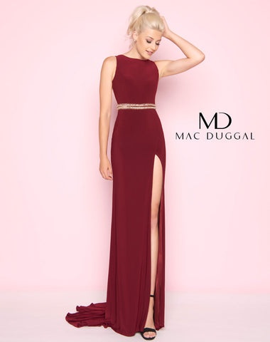 Mac Duggal 2012L Prom Dress Burgundy