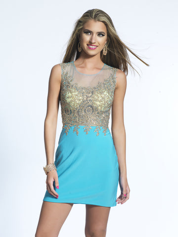 Homecoming Dress Dave & Johnny 2013 Turquoise