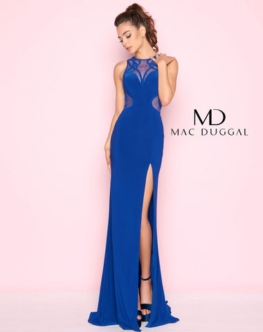 Mac Duggal 2021L Prom Dress Royal