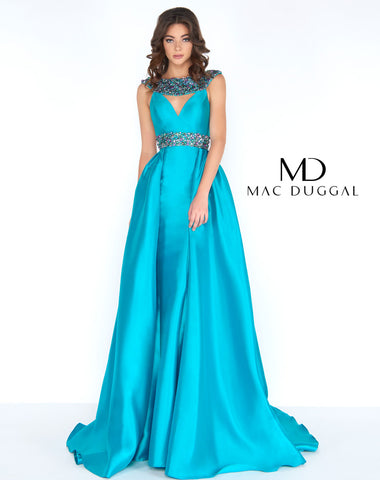 Mac Duggal 2025A Prom Dress Turquoise