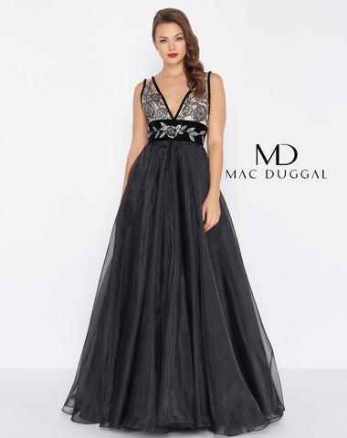 Mac Duggal 2035R Prom Dress Noir