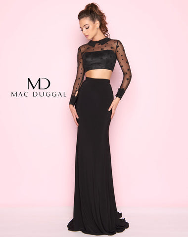 Mac Duggal 2039L Prom Dress Black