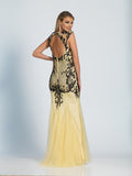 Dave & Johnny Prom Dress 2064 Nude/Black Back
