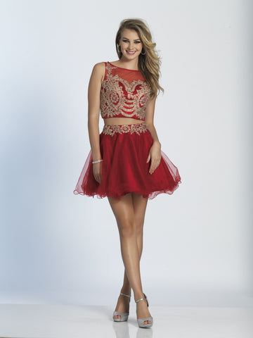 Homecoming Dress Dave & Johnny 2098 Red