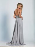 Prom Dress Dave & Johnny 2143 Grey Back