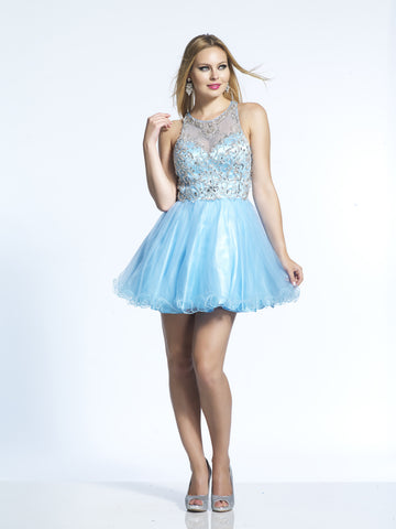 Homecoming Dress Dave & Johnny 2213 Periwinkle