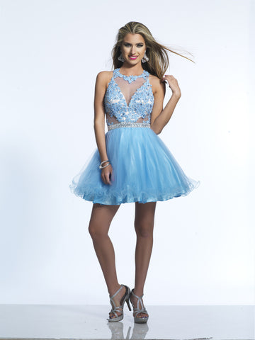 Homecoming Dress Dave & Johnny 2215 Periwinkle