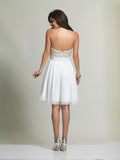 Homecoming Dress Dave & Johnny 2220 Ivory Back