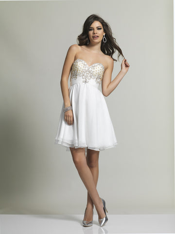 Homecoming Dress Dave & Johnny 2220 Ivory