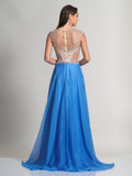 Dave & Johnny 2366 Prom Dress Periwinkle Back
