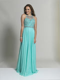 Dave & Johnny 2435 Prom Dress Aqua
