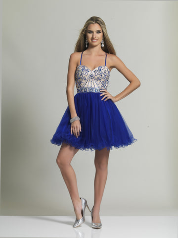 Homecoming Dress Dave & Johnny 2488 Sapphire